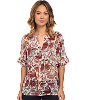 TWO by Vince Camuto - Short Sleeve Lyrical Floral Swing Y-Neck Blouse