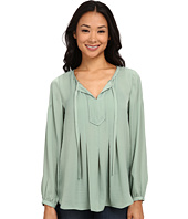 TWO by Vince Camuto - Long Sleeve Charmeuse Peasant Blouse