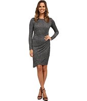 Adrianna Papell - Jaspee Knit Scoop Neck Ruched Dress