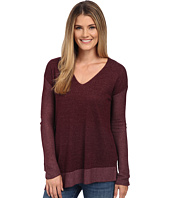 TWO by Vince Camuto - Plaited Asymmetrical V-Neck Pullover