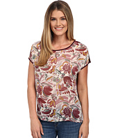TWO by Vince Camuto - Short Sleeve Lyrical Floral Mixed Media Tee