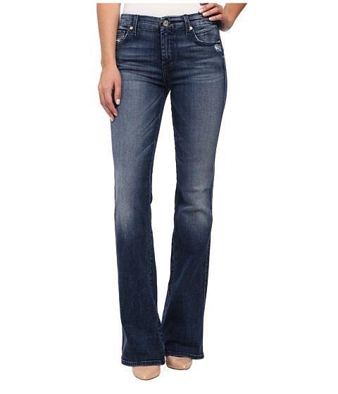 "7 For All Mankind ""A"" Pocket with Navy A in Lake Blue"