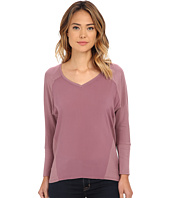 TWO by Vince Camuto - V-Neck Mixed Media Saturday Shirt