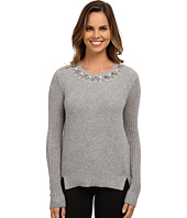 Adrianna Papell - Scoop Embellished Neck Sweater