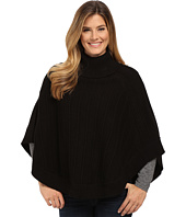 TWO by Vince Camuto - Rib Stitch Turtleneck Cape
