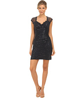 rsvp - Sequin Short Dress with Keyhole Back