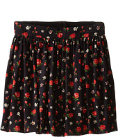 Dolce & Gabbana Kids - Back to School Floral Print Skirt (Toddler/Little Kids)