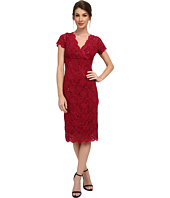 rsvp - Cap Sleeve Floral Lace Empire Dress with Sequins