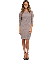 rsvp - 3/4 Sleeve Stretch Lace Dress with Sequins