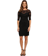 rsvp - Beaded Stretch Illusion Neckline Dress