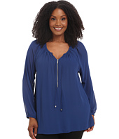 MICHAEL Michael Kors - Plus Size Zip Peasant Tunic