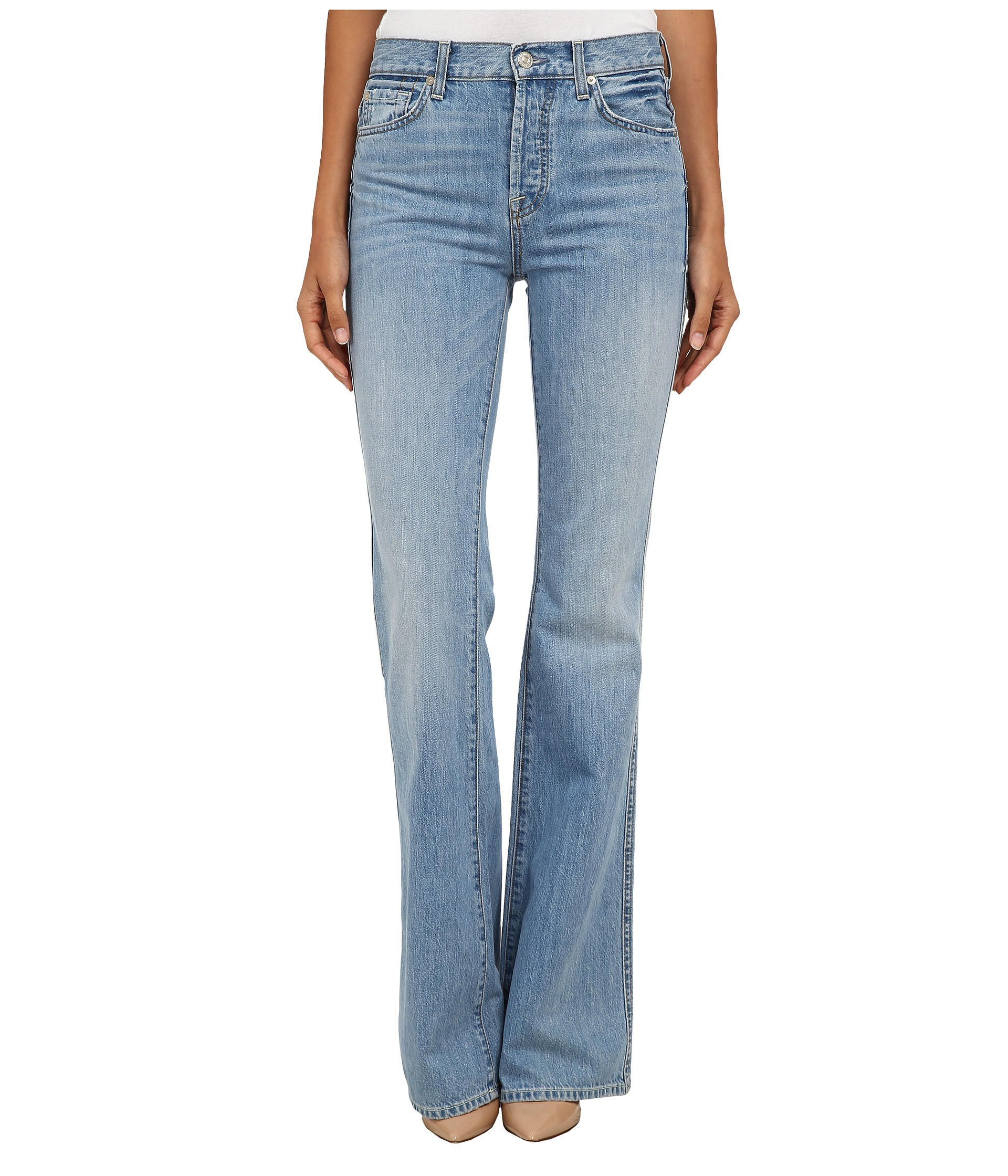 7 For All Mankind High Waist Vintage Bootcut in Heritage Light ...