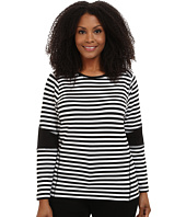 MICHAEL Michael Kors - Plus Size Stripe Color Block Top