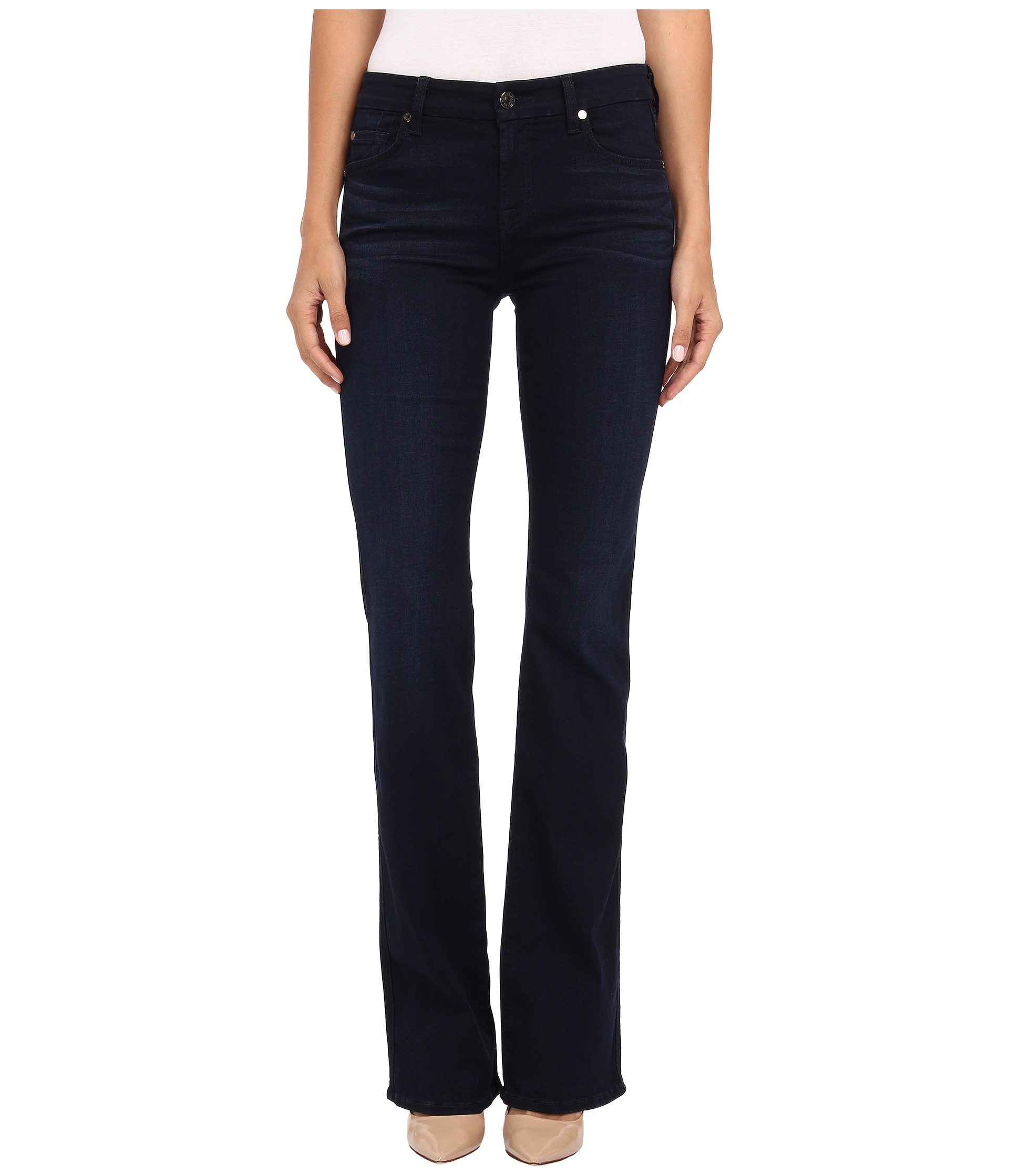 7 For All Mankind Kimmie Bootcut in Slim Illusion Luxe Rich Blue ...