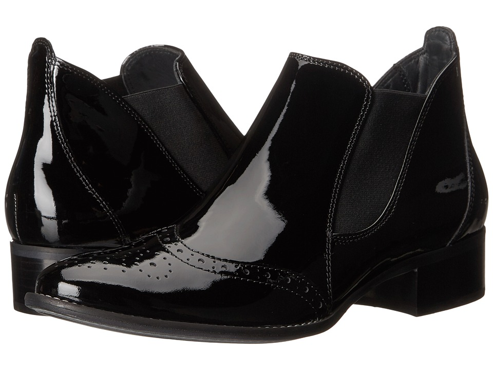 Paul Green Ava Black Patent Womens Pull on Boots