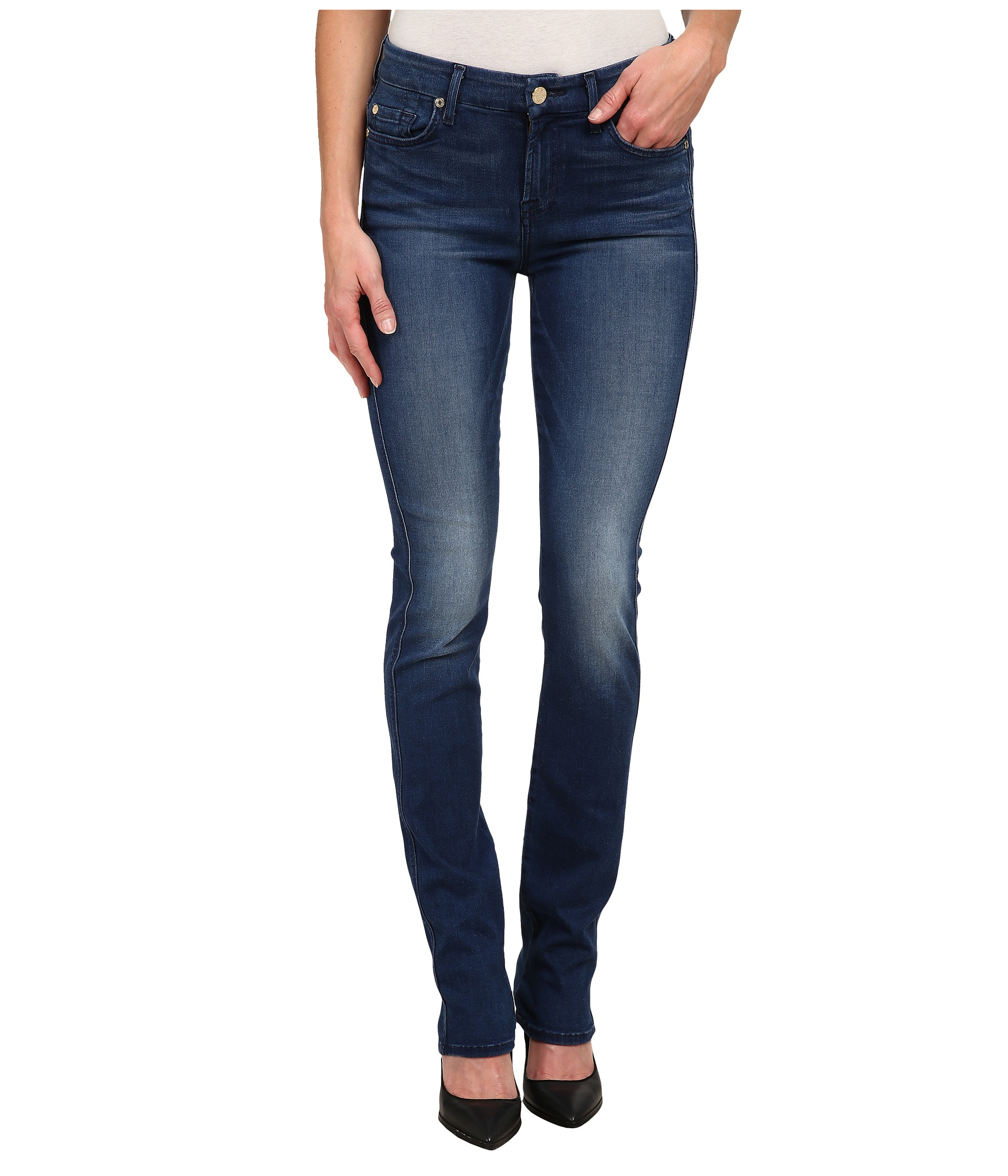 7 For All Mankind Kimmie Straight Leg in Slim Illusion Luxe Medium ...