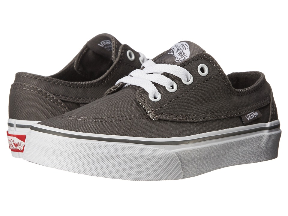 Vans Kids - Brigata (Little Kid/Big Kid) (Pewter/True White) Boys Shoes