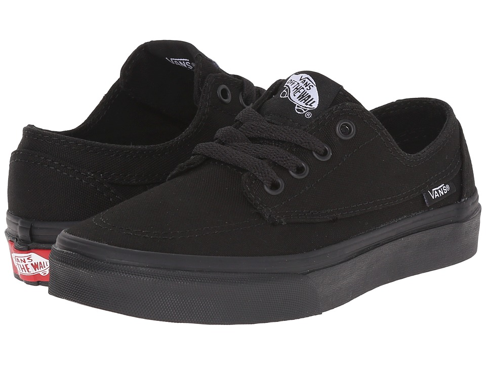 Vans Kids - Brigata (Little Kid/Big Kid) (Black/Black) Boys Shoes