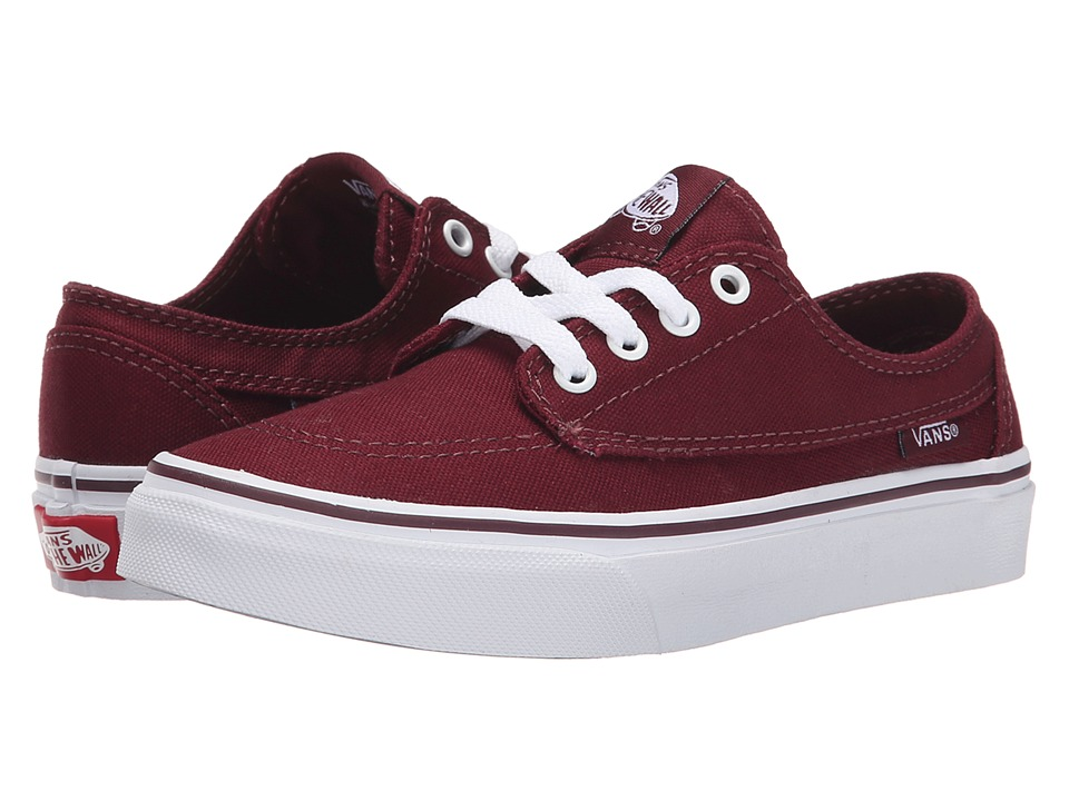 Vans Kids - Brigata (Little Kid/Big Kid) (Port Royale/True White) Boys Shoes