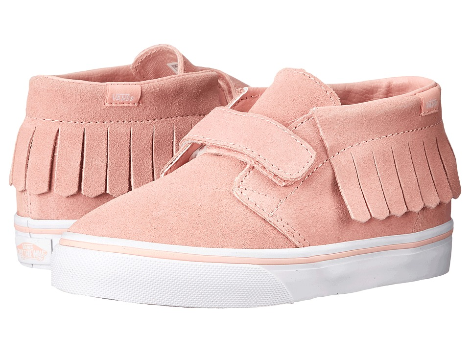 Vans Kids Chukka V Moc (Toddler) ((Suede) Blossom/True White) Girls Shoes