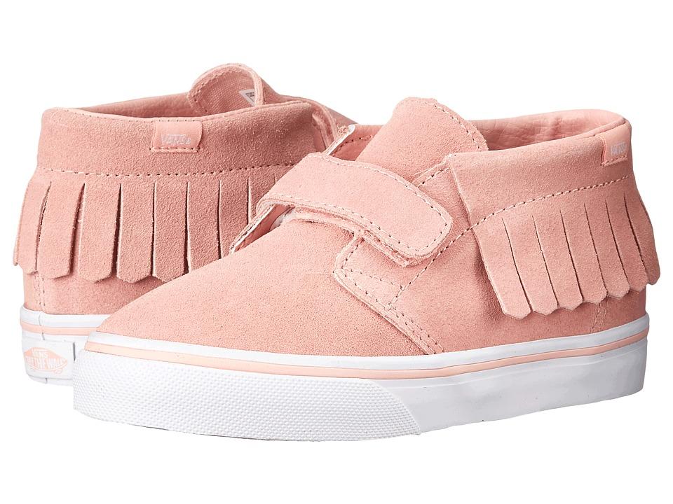 Vans Kids Chukka V Moc (Toddler) ((Suede) Blossom/True White) Girls Shoes