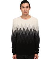 Vince - Wool Linen Jaspe Argyle Crew