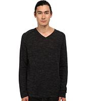 Vince - Wool Linen Jaspe V-Neck
