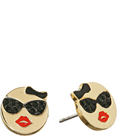 Kate Spade New York - Tell All Sunglasses Emoji Studs Earrings