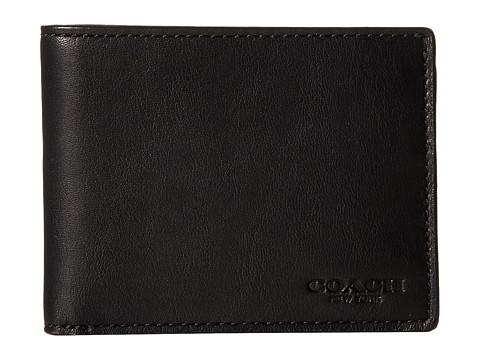 COACH Sport Calf Slim Billfold ID Wallet - Black