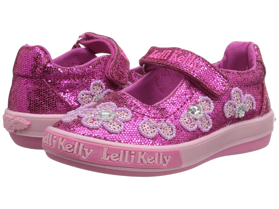Lelli Kelly Kids Fiore Dolly Toddler/Little Kid Fuchsia Glitter Girls Shoes