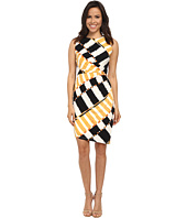 Donna Morgan - Sleeveless Rouch Waisted Printed Jersey Dress