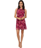 Donna Morgan - Sleeveless Chiffon Floral Print Dress