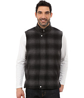 Stetson - Black & Gray Plaid Wool Blend Vest