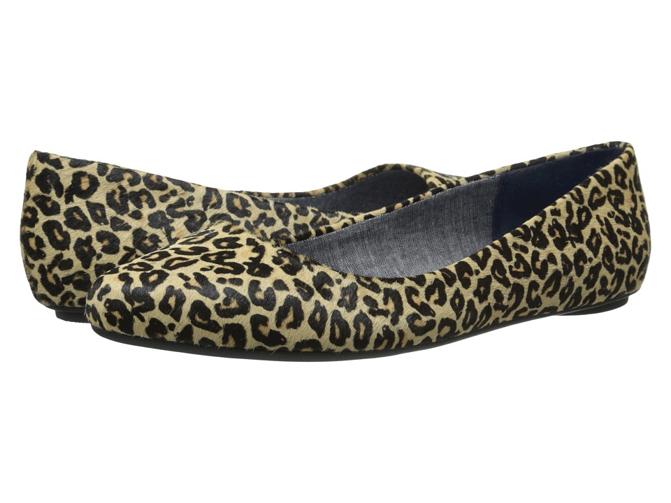 Dr. Scholls Really Tan/Black Leopard Womens Flat Shoes