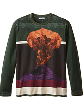 Dolce & Gabbana Kids - Volcano Print Long Sleeve T-Shirt (Big Kids)