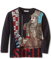 Dolce & Gabbana Kids - Sicily Long Sleeve T-Shirt (Toddler/Little Kids)