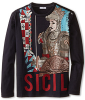 Dolce & Gabbana Kids - Sicily Long Sleeve T-Shirt (Big Kids)