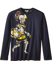Dolce & Gabbana Kids - King Print Long Sleeve T-Shirt (Big Kids)