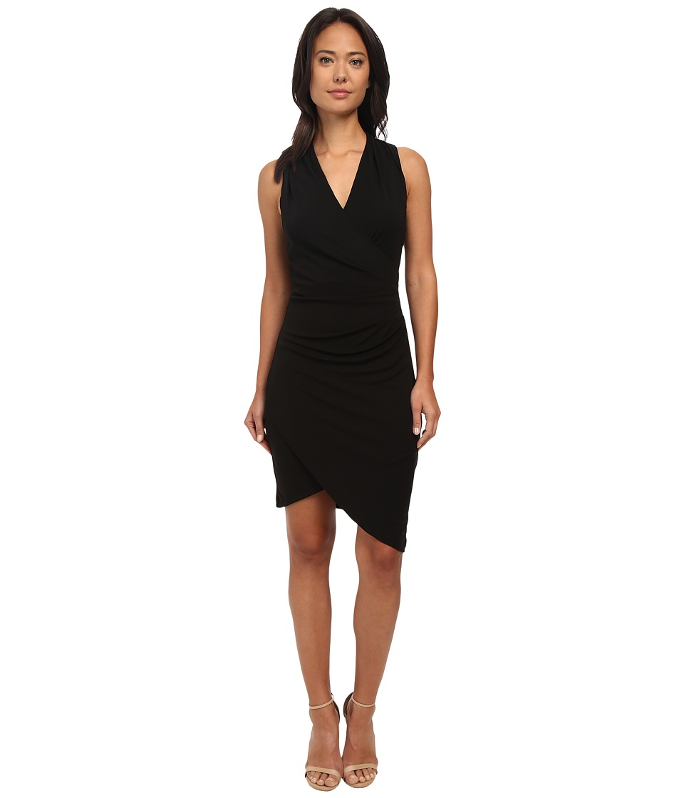 Nicole Miller Stefanie Tulip Hem Dress Black Womens Dress