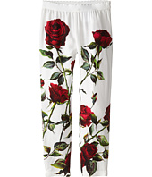 Dolce & Gabbana Kids - Ceremony Rose Print Leggings (Big Kids)
