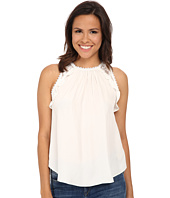 Rebecca Taylor - Sleeveless Embelished Chiffon Top