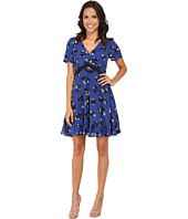 Rebecca Taylor - Short Sleeve Alyssum Print Dress