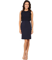 Rebecca Taylor - Sleeveless Suiting Dress with Lace