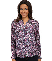 Rebecca Taylor - Long Sleeve Sleeve Floral Matrix Top