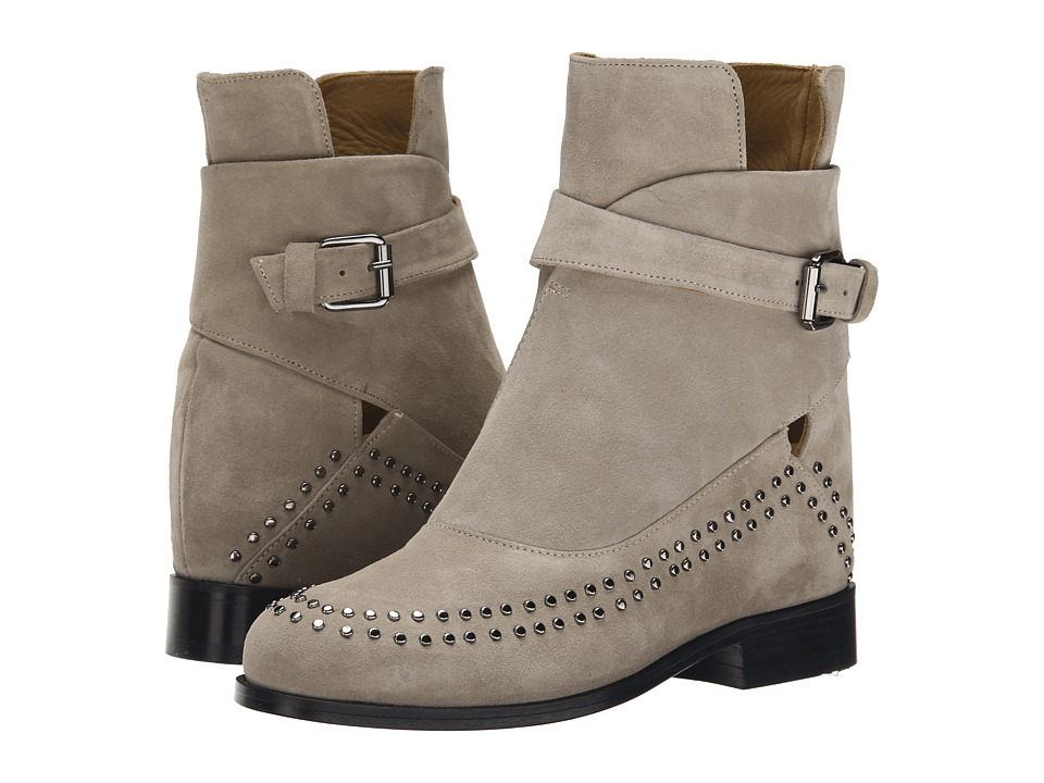 THAKOON ADDITION Fiona 02 Grey Suede Studs Womens Pull on Boots