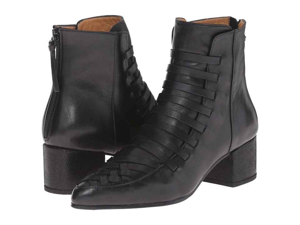THAKOON ADDITION Estelle 01 Black Leather Womens Zip Boots