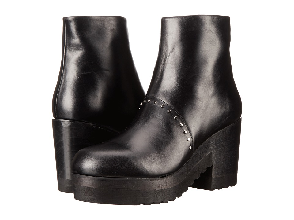 THAKOON ADDITION Gogo 01 Black Leather Womens Zip Boots