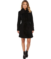 Vince Camuto - Belted Sherpa Detail Wool Coat J8431