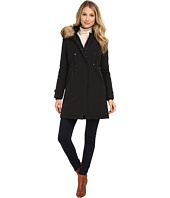 Vince Camuto - Single Breasted Matte Fabrication Down with Faux Fur Lined Hood J1721