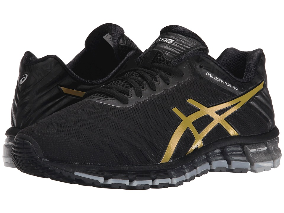 ASICS - GEL-Quantum 180 (Black/Gold/Silver) Mens Running Shoes
